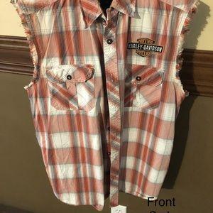 Harley Davidson sleeveless shirt